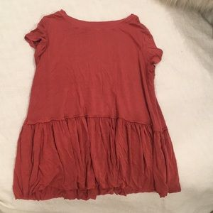 Coral peplum tee from target! Worn once